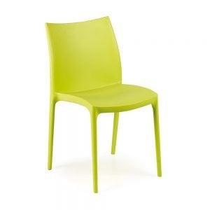 Sedia nterno ed esterno in plastica impilabile Zip IPAE-PROGARDEN