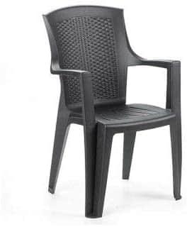 Set 1 Tavolo Prince + 6 sedie Eden da Giardino in plastica effetto rattan - Tomaino